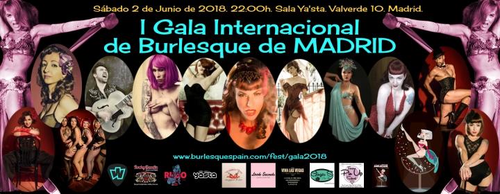 I GALA INTERNACIONAL DE BURLESQUE DE MADRID.